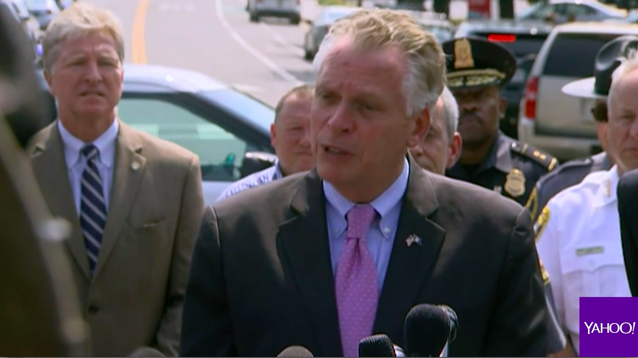 Virginia Gov. McAuliffe pushes gun control after Alexandria shooting