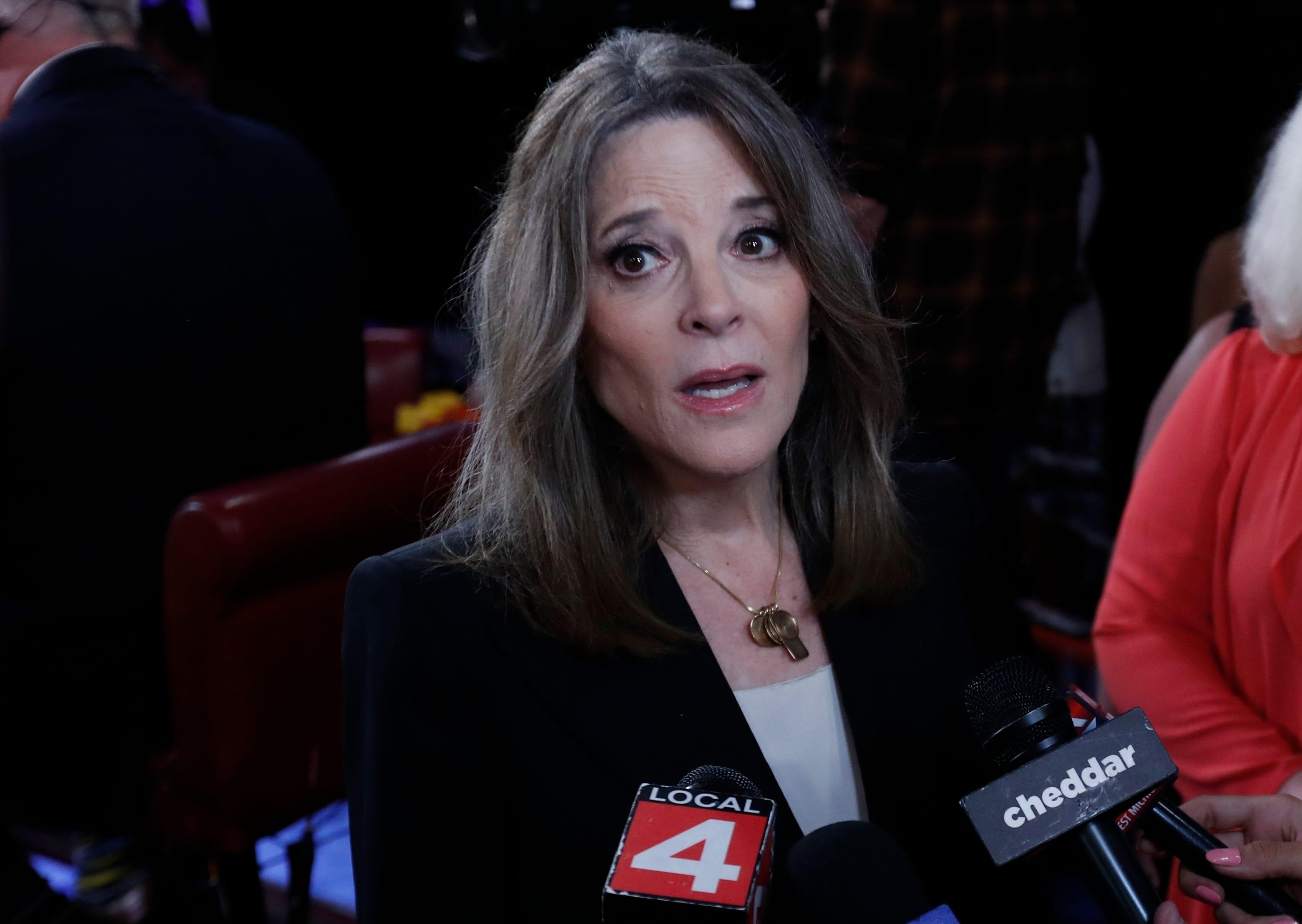 Marianne Williamson isn't on the debate stage but reminded people she's still running