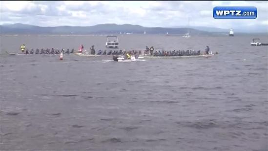 Dragon boats take to Lake Champlain