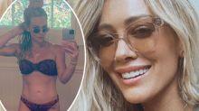 Hilary Duff shows off insane fitness transformation in bikini snap