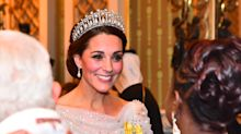 Kate Middleton wows in Princess Diana's tiara and a Jenny Packham gown