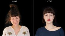Striking Portraits Capture What People Look Like At 7am Vs 7pm