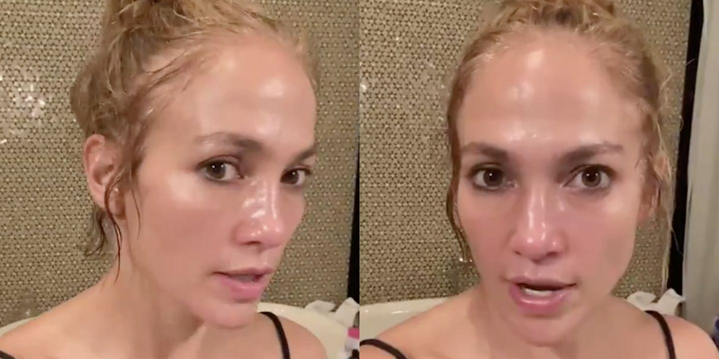 J Lo Shows Her Natural Skin In A Makeup Free Video Reveals She S Never Tried Botox