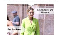 Look des Tages: Rita Ora im neongrünen Zweiteiler