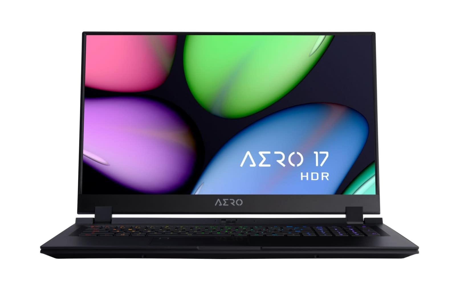 Gigabyte's Aero 17 has a 4K HDR display and Intel's 8-core i9 CPU
