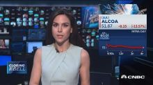 Alcoa on pace for worst day since 2009