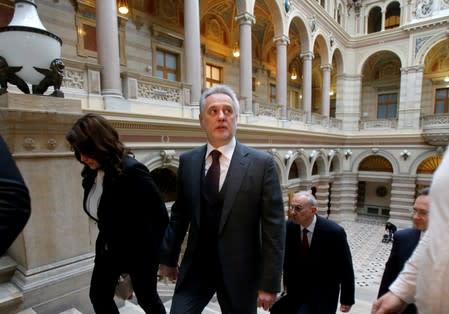 FILE PHOTO: Ukrainian oligarch Dmytro Firtash arrives at court in Vienna