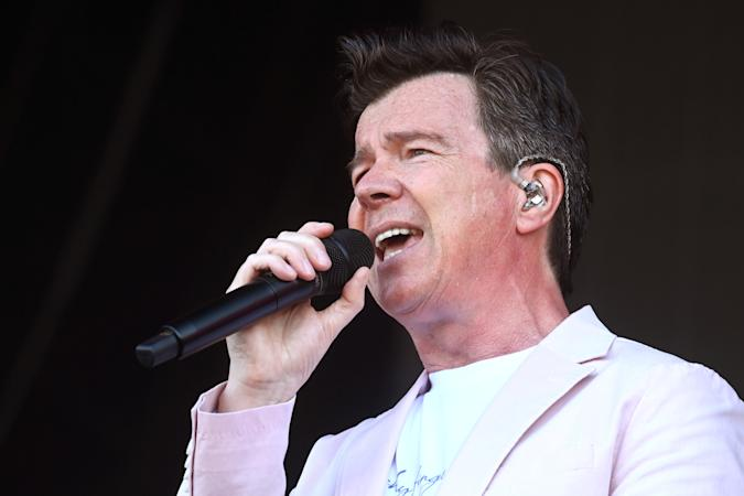 SOUTHWOLD, ENGLAND - JULY 25: Rick Astley performs during Latitude Festival 2021 at Henham Park on July 25, 2021 in Southwold, England. (Photo by Dave J Hogan/Getty Images)