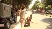Caught on cam: Cop brutally thrashes another cop