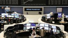 Downbeat Draghi curbs gains on European shares as tech shines