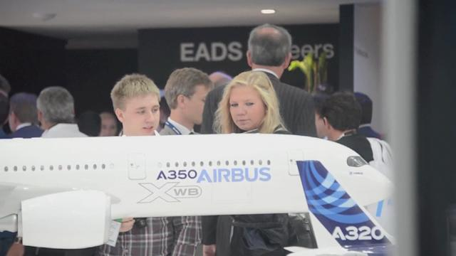 Airbus and EADS booth at International air show in Berlin