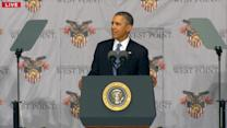 Obama Defends Foreign Policy at Commencement