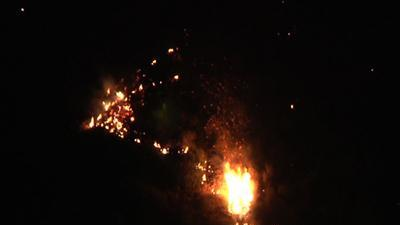 Wind-Fueled Wildfire Erupts East of Los Angeles