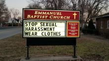 Church's sexual harassment sign infuriates community
