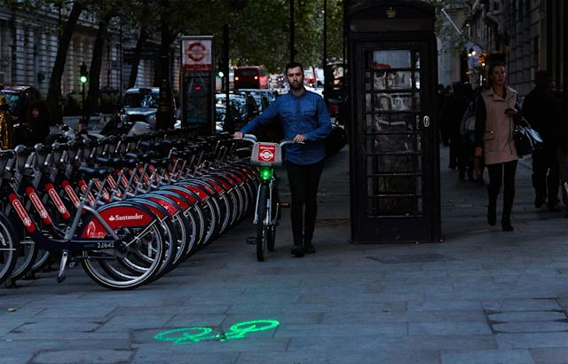 London's entire Boris bike fleet will soon have laser lights