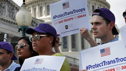 Partial ban ontransgender troops to move ahead