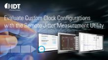 IDT's Web-Based Jitter Measurement Utility Gives Product Designers Critical Timing Test Results in Minutes
