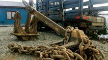 Coronavirus: en medio de la cuarentena, roban anclas de 1600 kilos de un barco encallado en Tierra del Fuego