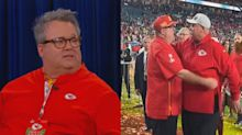 Eric Stonestreet's touching Super Bowl moment with Chiefs head coach Andy Reid