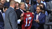 Donald Trump mistakenly calls Nick Saban 'Lou' repeatedly while endorsing Tommy Tuberville