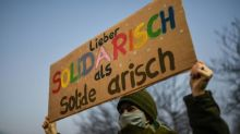 German far right holds congress with 'hotspot potential'