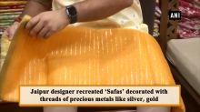 Jaipur man recreates Rajput tradition by designing 24-carat gold 'Safa'