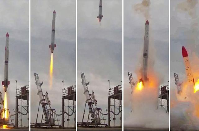 Japan's latest chance at private rocket launch ends in flames