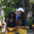 Barack and Michelle Obama have one wild ride with their daughters in Bali