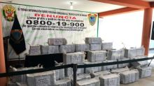 Decomisan en Perú más de mil kilos de cocaína