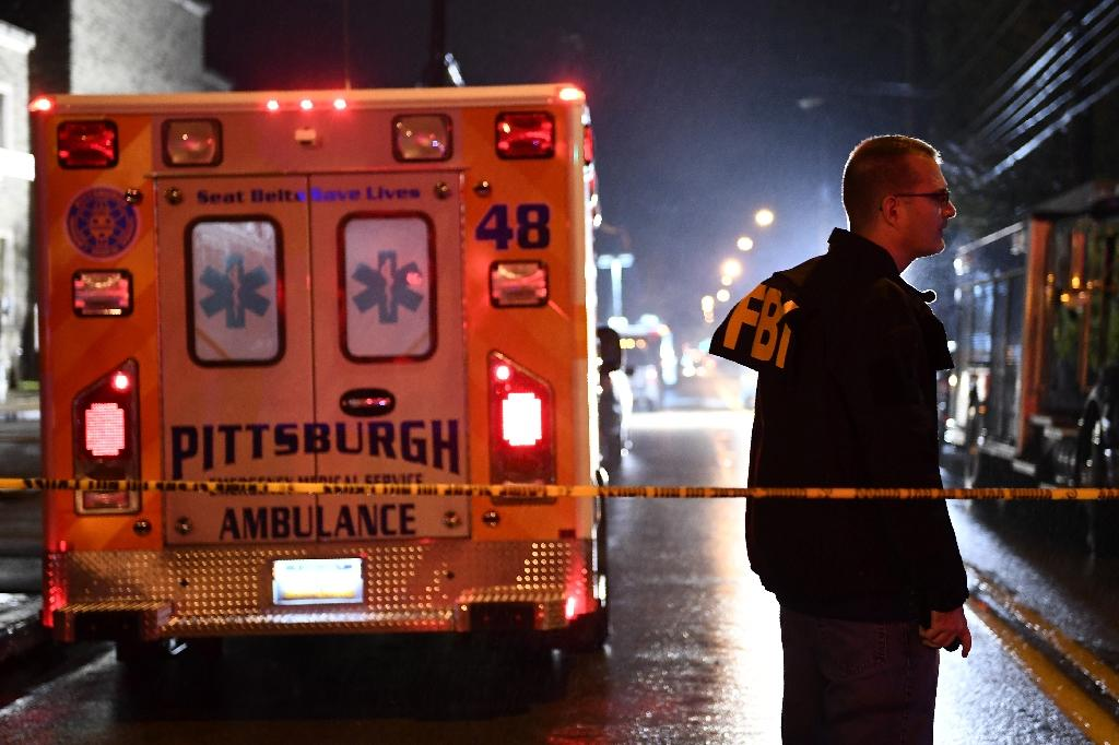 The Tree of Life Synagogue, whose congregation was founded more than 150 years ago, is located in the Squirrel Hill neighborhood that is historically the heart of Jewish life in greater Pittsburgh (AFP Photo/Brendan Smialowski)