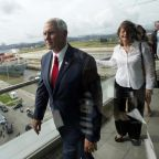 From the Road, Pence Paints Sunny Picture of Trump's Stormy Week