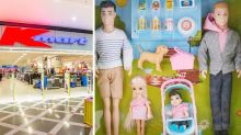 Kmart's range of family doll sets include same-sex families