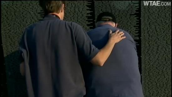 The Moving Wall honors Vietnam vets