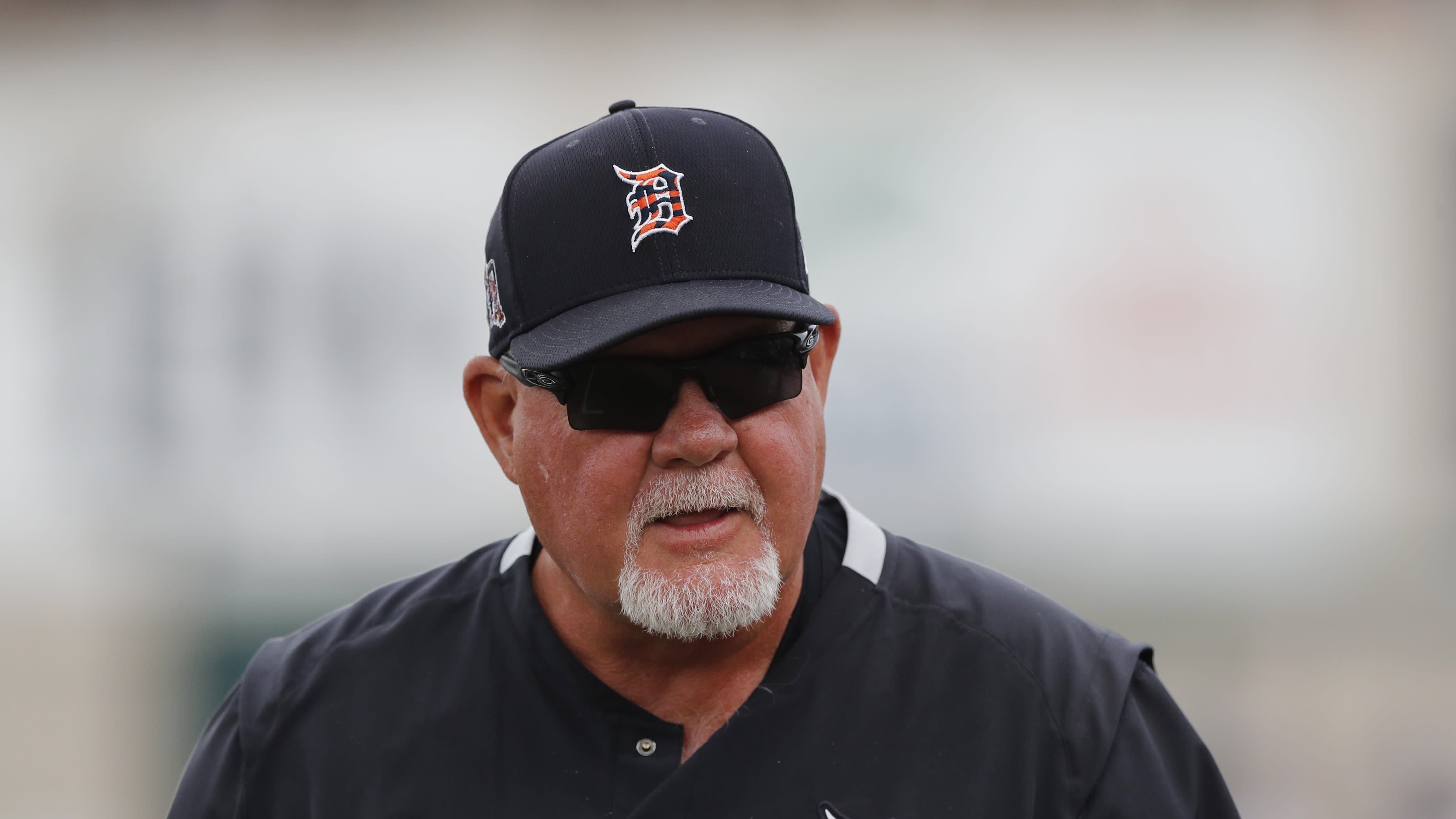 FILE - In this March 5, 2020, file photo, Detroit Tigers manager Ron Gardenhire watches during a spring training baseball game in Lakeland, Fla. Gardenhire announced his retirement prior to Detroit's game against the Cleveland Indians on Saturday, Sept. 19,2020. (AP Photo/Carlos Osorio, File)