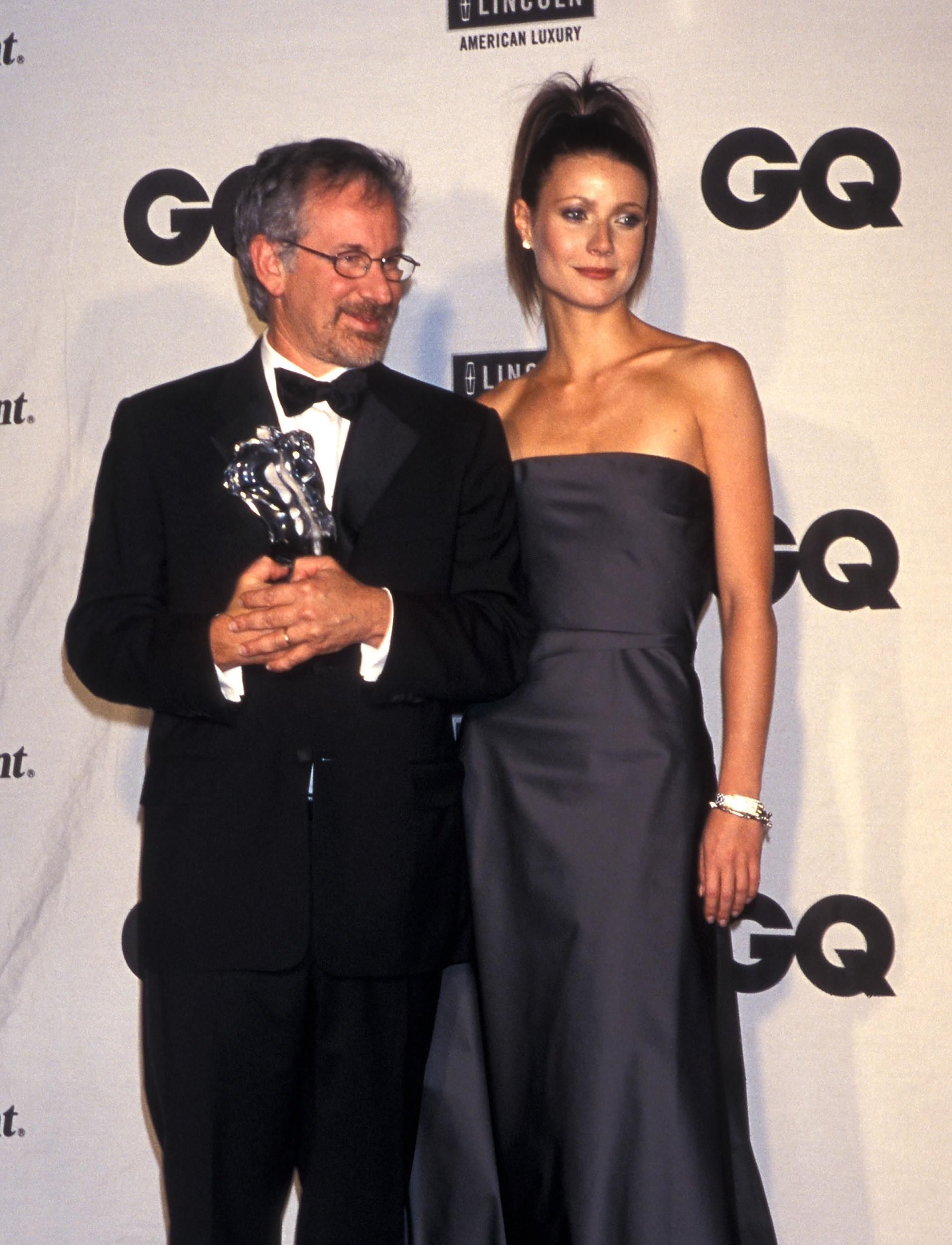 Director/Producer Steven Spielberg and actress Gwyneth Paltrow attend the Fourth Annual GQ Men of the Year Awards on October 21, 1999 at the Beacon Theater in New York City. (Photo by Ron Galella, Ltd./WireImage)