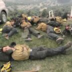 Viral Photo of Exhausted California Firefighters Sleeping After Working 24-Hour Shifts Resurfaces
