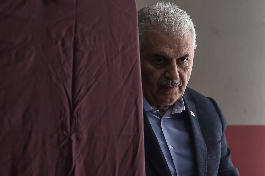 Turkish ruling AKP Istanbul mayoral candidate Binali Yildirim is an Erdogan loyalist (AFP Photo/Ozan KOSE)