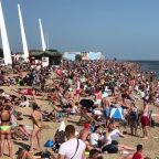 Jam-packed Southend-on-Sea as UK sunseekers escape quarantine during sunny holiday