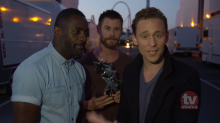 Tom Hiddleston Acceptance Speech Hijacked By Thor Co-Stars Idris Elba and Chris Hemsworth