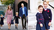 Princess Charlotte's first day of school marked with official photo featuring Prince George