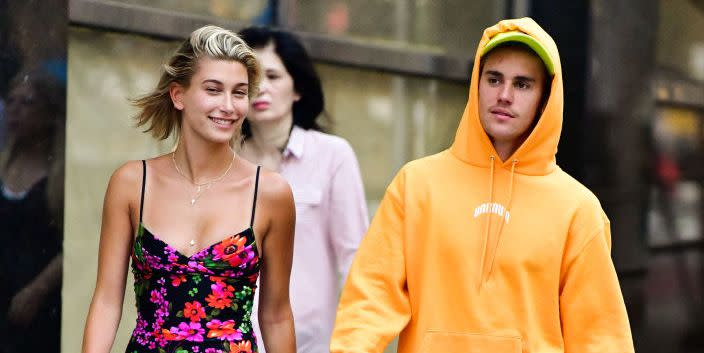 Justin Bieber and Hailey Baldwin Went Dancing on the Streets of Beverly Hills