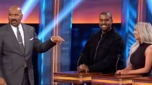 Kanye West Is 'Here to Win' in First Look at Kardashian-West 'Celebrity Family Feud' Episode
