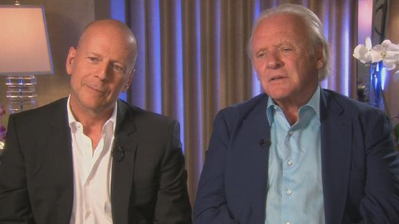 Bruce Willis and Anthony Hopkins Talk 'Red 2': How Challenging Were The Stunts?