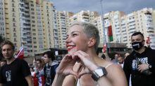 La líder opositora bielorrusa Kolésnikova, detenida por desconocidos en Minsk