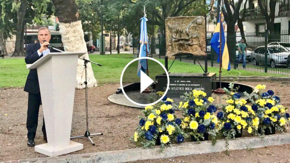 VIDEO: El otro festejo del cumpleaños de Boca y la recorrida por la plaza de la fundación