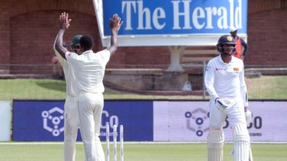 Sri Lanka fall in flurry of wickets in South Africa