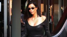 Kim Kardashian Wears Skintight Leather Look to Lunch, Gets Very Appropriate Fortune Cookies: Pics