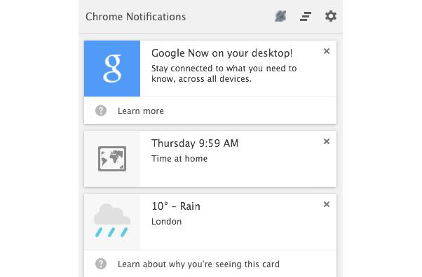 Google Now comes to Chrome on the desktop in experimental form