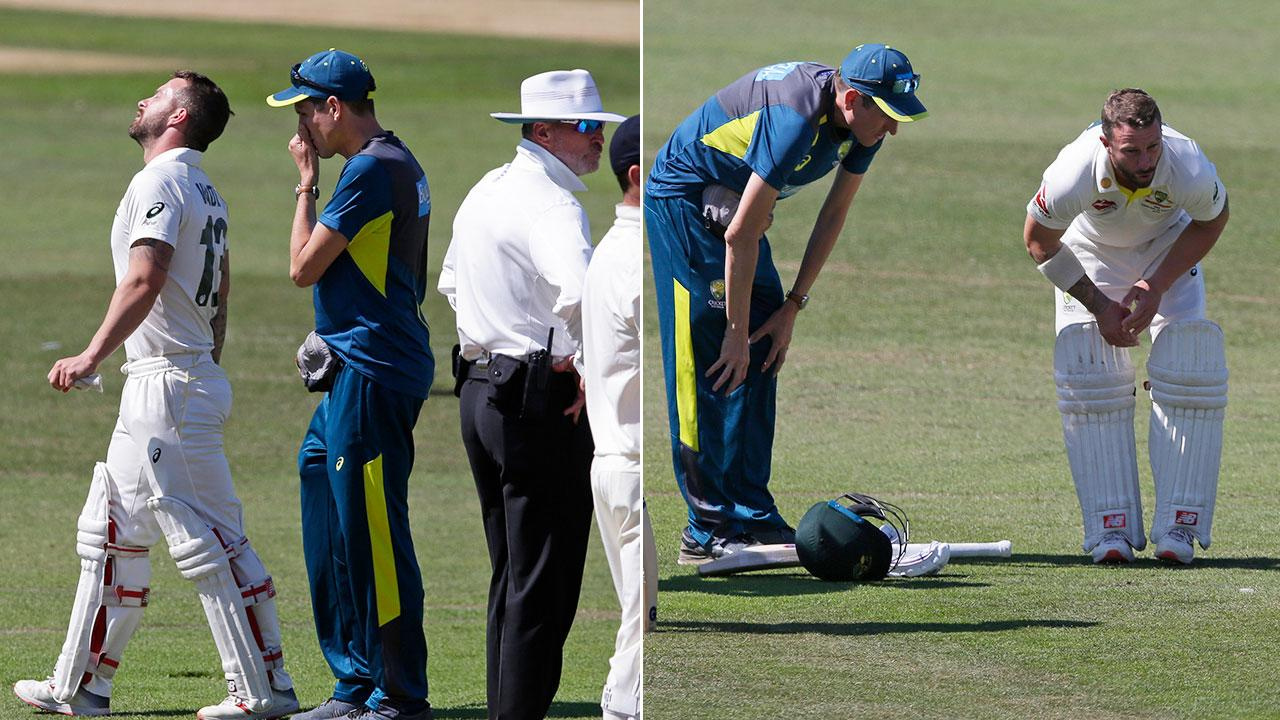 Scary moment rocks in-form Australian Ashes hopeful