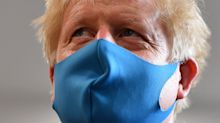 Boris Johnson criticised on Twitter for 'not removing his face mask properly'